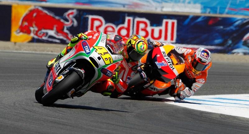 Кейси Стоунер и Валентино Росси MotoGP Гран-При США 2012