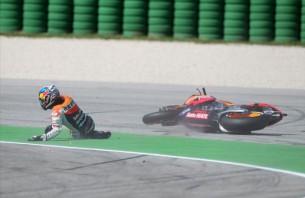 Падение Дани Педросы Гран-При Сан-Марино в Мизано 2012