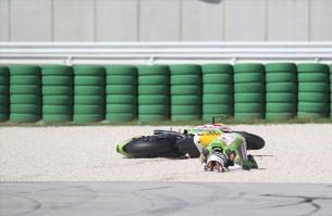 Падение Эктора Барберы Гран-При Сан-Марино в Мизано 2012