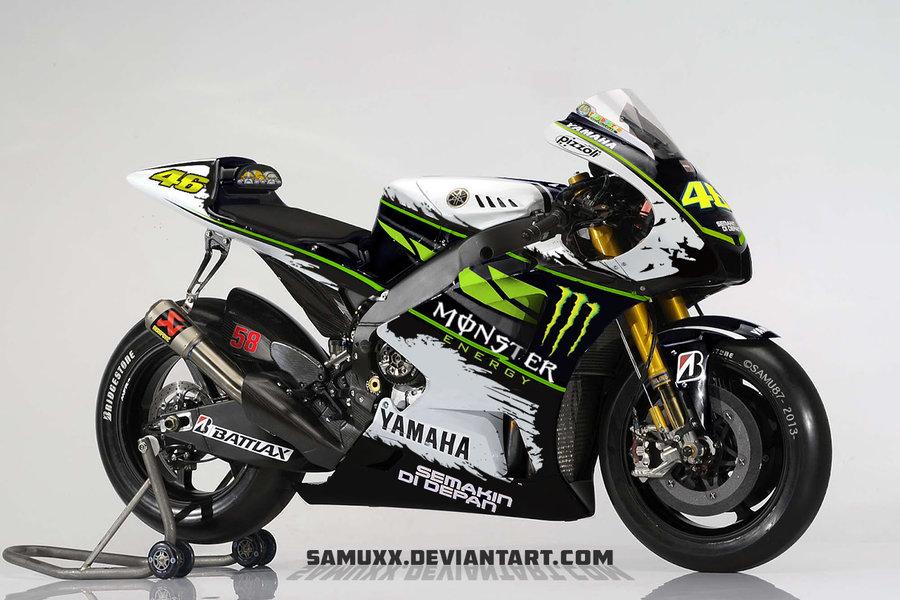 мотоцикл Yamaha YZR-M1 Валентино Росси