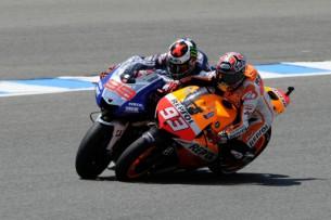 Столкновения пилотов MotoGP Марка Маркеса и Хорхе Лоренцо Гран-При Испании 2013