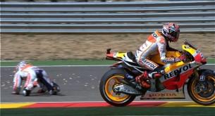 Падение Дани Педроса MotoGP Гран-При Аргона 2013