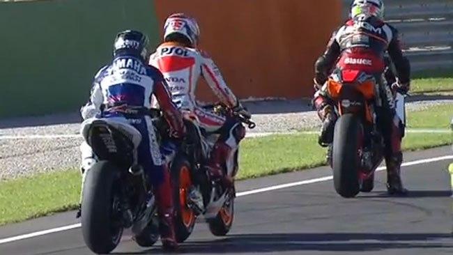 Марк Маркес и Хорхе Лоренцо MotoGP 2013