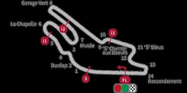 Схема трассы Ле-Ман