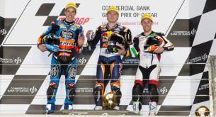 Призеры гонки Moto3 Гран-При Катара 2014