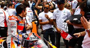 Марк Маркес и Льюис Хэмильтон, MotoGP 2014