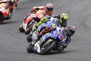 Хорхе Лоренцо, Валентино Росси, Марк Маркес, MotoGP 2014