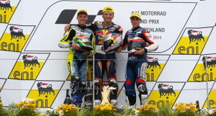 Подиум Moto3 Гран-При Германии 2014