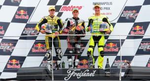 Подиум Moto2 Гран-При Индианаполиса 2014