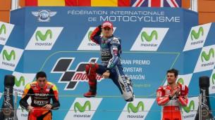 Хорхе Лоренцо, пилот Movistar Yamaha MotoGP, на подиуме