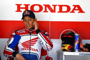 Кейси Стоунер на тестах Honda (Мотеги-2014)