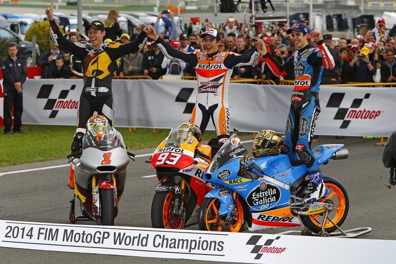Чемпионы мира Гран-При 2014: братья Маркесы и Рабат