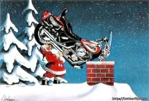 Дед Мороз мотоцикл