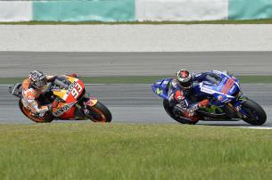 Марк Маркес и Хорхе Лоренцо, MotoGP 2015