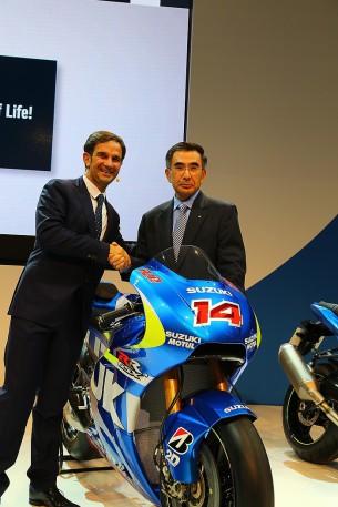 Фотосессия нового мотоцикла Suzuki GSX-RR
