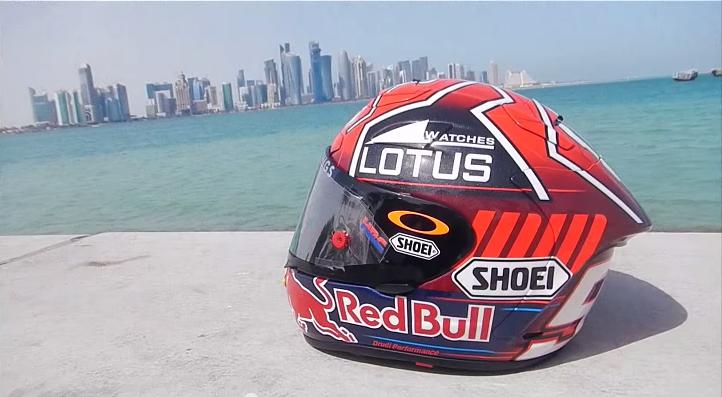 Марк Маркес представил новый дизайн шлема
