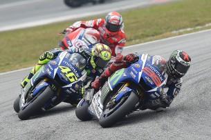 Валентино Росси и Хорхе Лоренцо, MotoGP Гран-При Малайзии 2015
