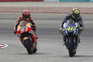 Валентино Росси и Марк Маркес, MotoGP Гран-При Малайзии 2015