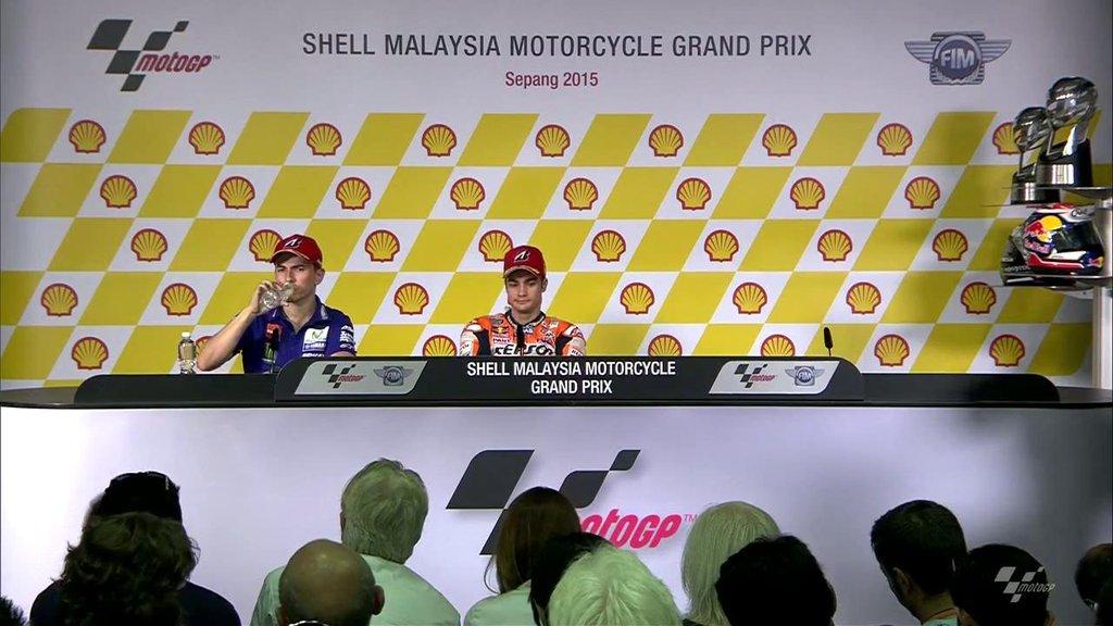 Лоренцо и Педроса на пресс-конференции