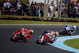 Джулиано и Хэйден на гонке WSBK в Австралии 2016 (A. Deboor)