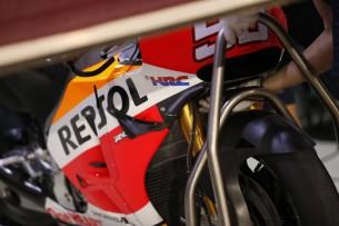 Honda MotoGP Аэродинамические крылья, тесты 2016