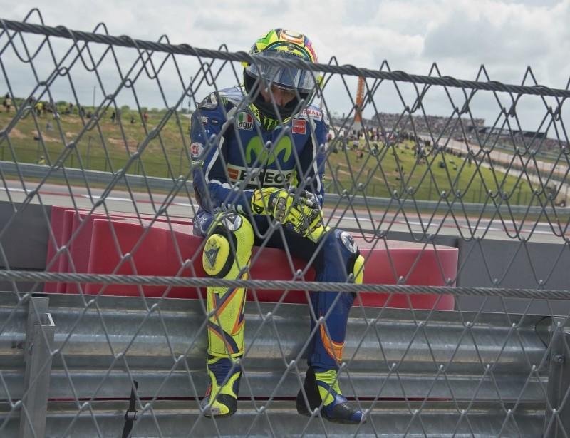 Валентино Росси, Гран-При Америк 2016, падение, грусть, печаль, разочарование
