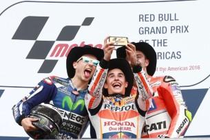 Подиум MotoGP Гран-При Америк 2016