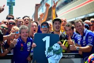 Валентино Росси, победитель гонки MotoGP Гран-При Каталонии 2016