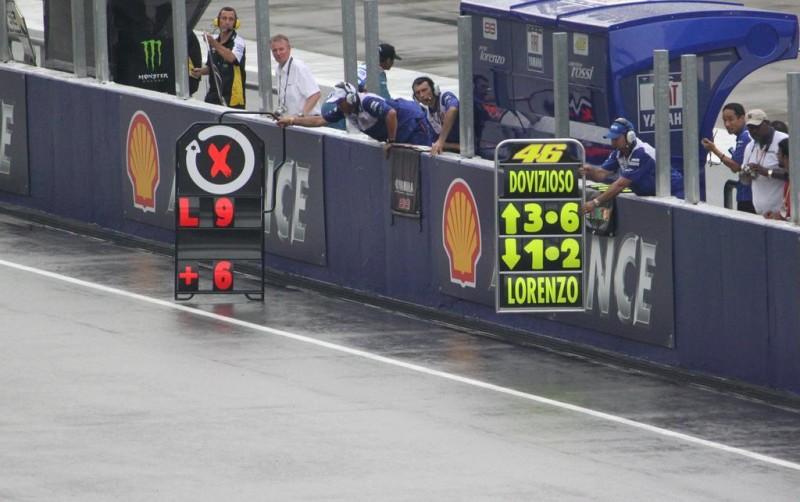 Пит-борд, Yamaha, MotoGP, дождь