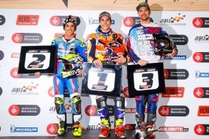Элиас, Маркес и Бейкер на Superprestigio Dirt Track 2016