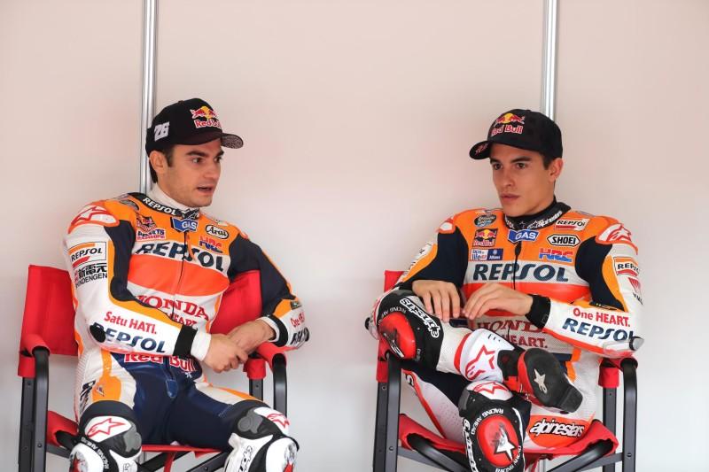 Педроса и Маркес на Honda Racing Thanks Day 2016