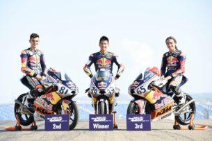 Виу, Масаки, Онджу - призеры Red Bull Rookies Cup 2017