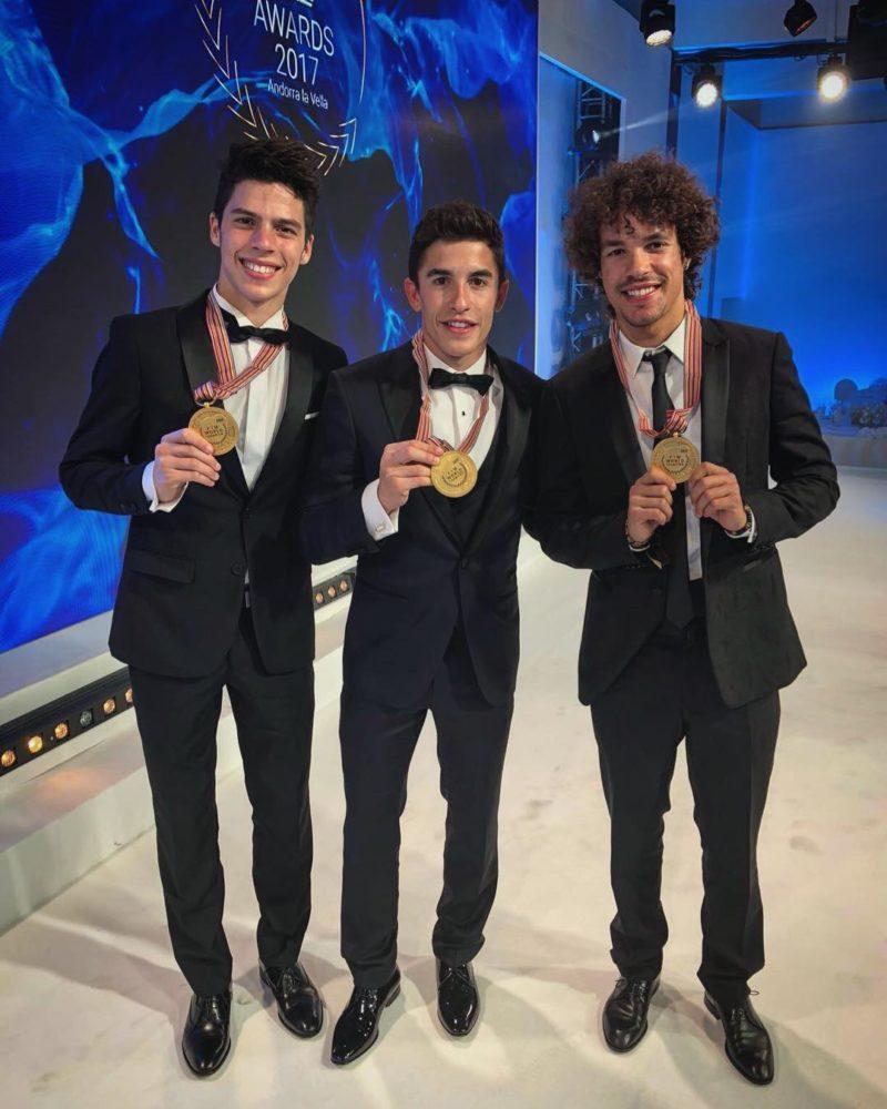 Мир, Маркес и Морбиделли (FIM Awards Ceremony 2017)