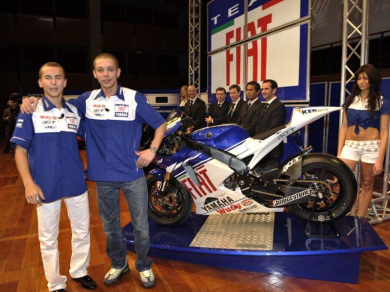 Лоренсо и Росси на презентации FIAT Yamaha 2008