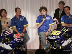 Эдвардс и Росси на презентации Gauloises Yamaha 2005