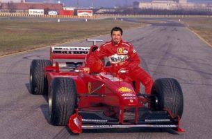 Макс Бьяджи тестирует Ferrari F300 (1999)