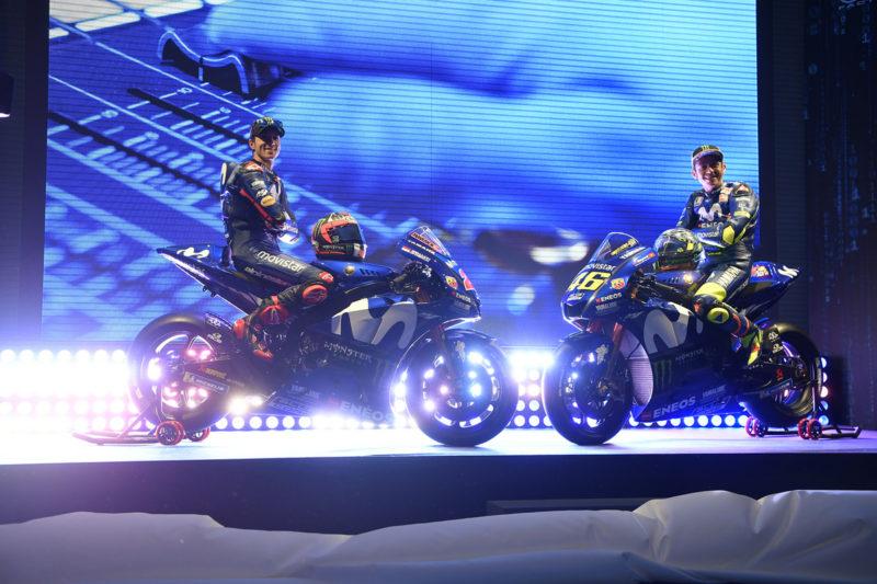 Виньялес и Росси на презентации Movistar Yamaha 2018