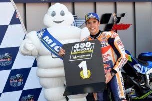 Марк Маркес выиграл для Michelin 400 гонку GP500/MotoGP (Херес-Анхель Ньето, 2018)
