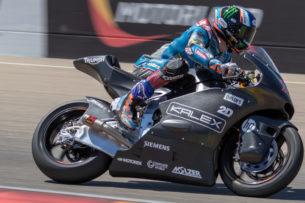 Алекс Маркес испытывает Triumph Moto2 (Арагон, 2018)