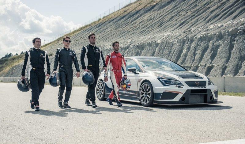 Лоренсо и Довициозо на тесте SEAT Cupra TCR (2018)