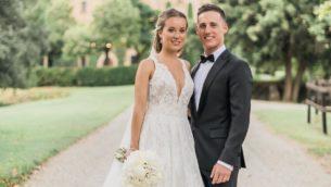 Поль Эспаргаро и Карлота Бертран поженились