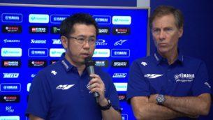 Кудзи Ция извиняется перед пилотами Yamaha (ГП Австрии 2018)