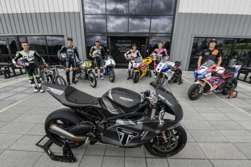 Гонщики Moto2 на заводе Triumph