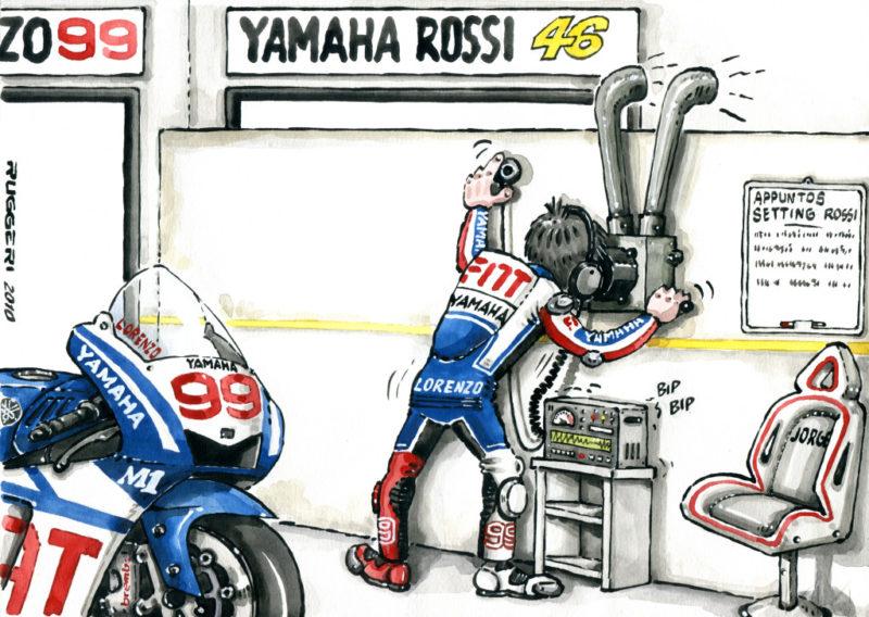 Карикатура на гараж FIAT Yamaha