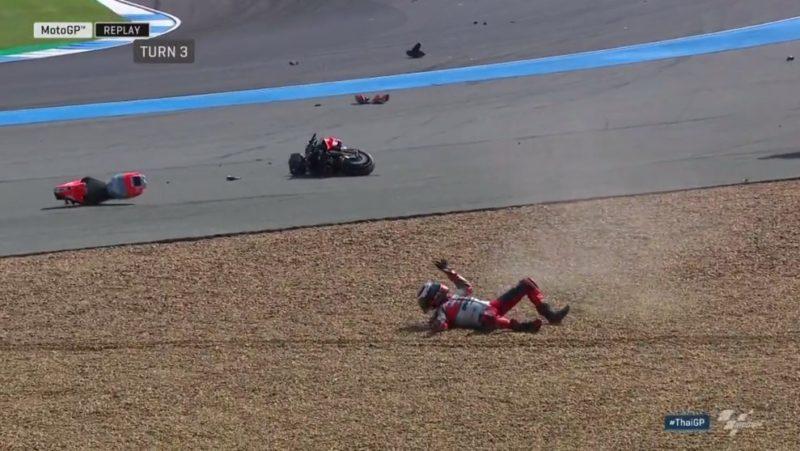 Мотоцикл Хорхе Лоренсо после аварии (Бурирам, 2018)