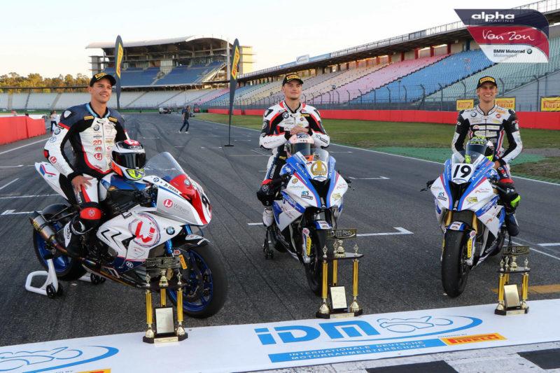Илья Михальчик (в центре) - чемпион IDM Superbike 2018