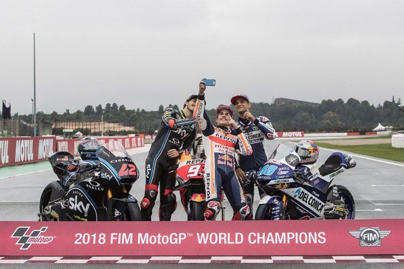 Баньяйя, Маркес и Мартин - чемпионы Гран-При 2018 года