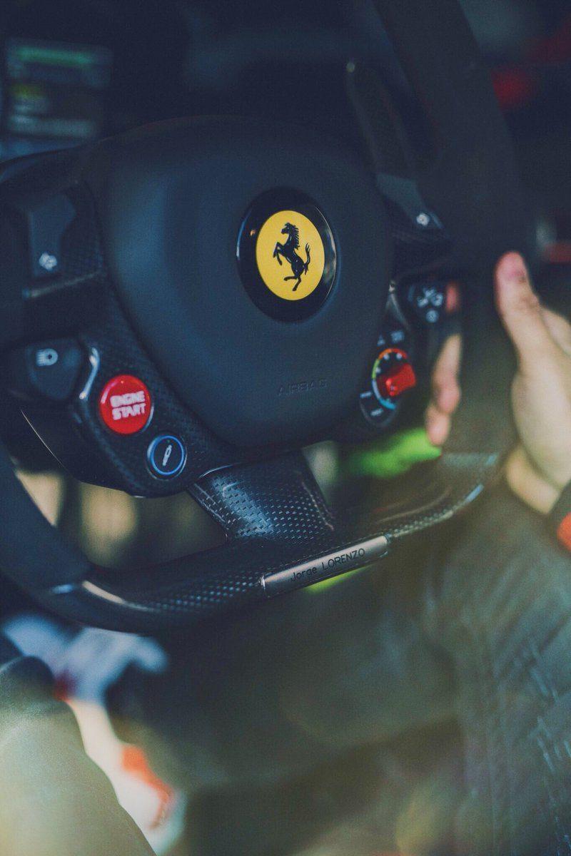 Хорхе Лоренсо и Ferrari LaFerrari