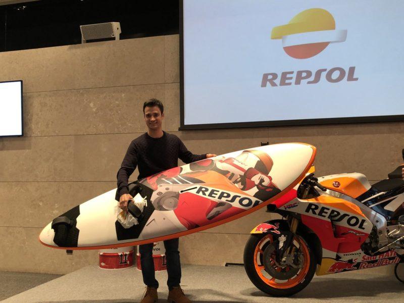 Дани Педроса в штаб-квартире Repsol