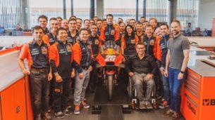 Дани Педроса на фабрике KTM Factory Racing